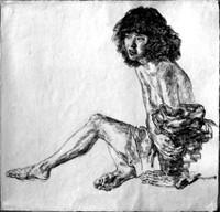 Arikha_young_woman_undressing_1999_